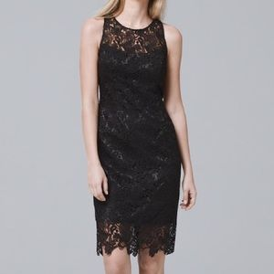 White House black market black lace sheath dress